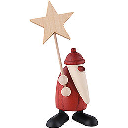 Weihnachtsmann mit Stern  -  9cm