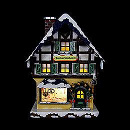 Winterhaus Zuckerbäckerei beleuchtet  -  15cm