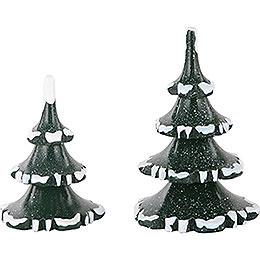 Winterkinder 2er Set Winterbaum klein  -  6 & 8cm