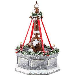 Winterkinder Stadtbrunnen, elektrisch beleuchtet  -  12cm
