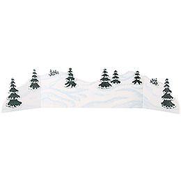 Winterlandschaft  -  Diorama  -  zw. 100 und 115cm verstellbar